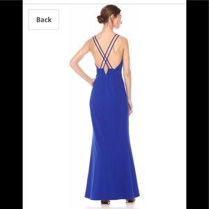 Badgley Mischka cobalt blue long dress NWT